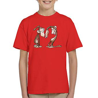 12 Monkeys Monkey Shapes Kid's T-Shirt