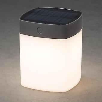 Konstsmide Solar Powered Dimmable LED Garden Table Light, Grey