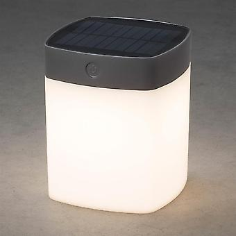 Konstsmide Solar Powered Dimmable jardin Table LED, gris