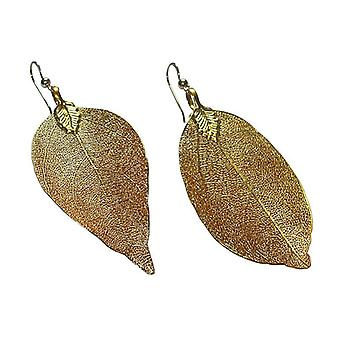Rose earrings Rosenblatt plated natural earrings gold plated