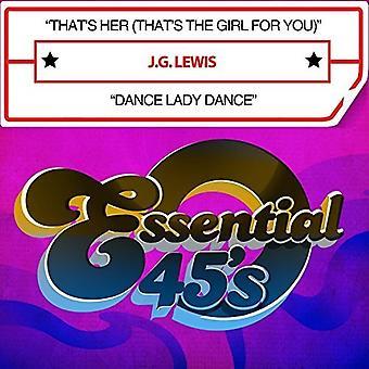 J.G. Lewis - det är henne (det är flickan för dig) / Dans Lady [CD] USA import