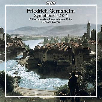 Gernsheim / Philharmonisches Staatsorchester Maguncia - Gernsheim: importación de Estados Unidos sinfonías nos. 2 & 4 [CD]
