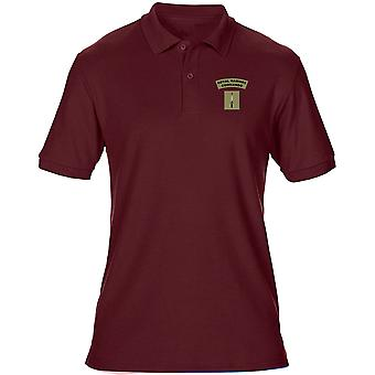 Royal Marines Commando Dolch Farbe gestickt Logo - offizielle MOD - Herren Polo-Shirt