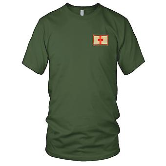 US Army - Medic Red Cross Embroidered Patch - Desert Mens T Shirt