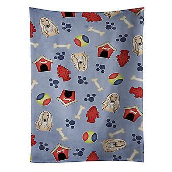 Carolines tesoros BB4023KTWL perro casa colección Afghan Hound toalla de cocina
