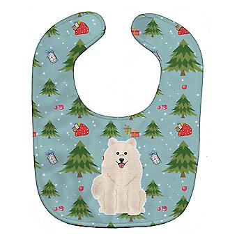 Carolines Treasures  BB4690BIB Christmas Samoyed Baby Bib