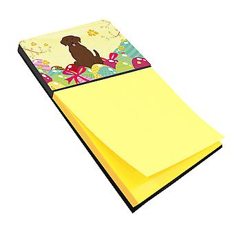 Carolines Treasures  BB6056SN Easter Eggs Chocolate Labrador Sticky Note Holder