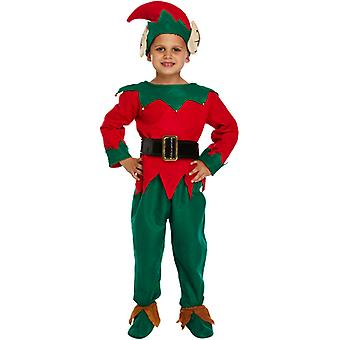 Children's Christmas Elf Nativity Fancy Dress Costume