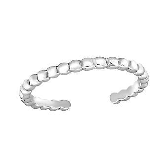 Patterned - 925 Sterling Silver Toe Rings - W20980x