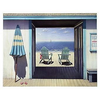 Beach Club Poster Print by Daniel Pollera (14 x 11)