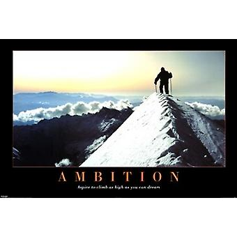 Ambition Mountain Poster Poster Print