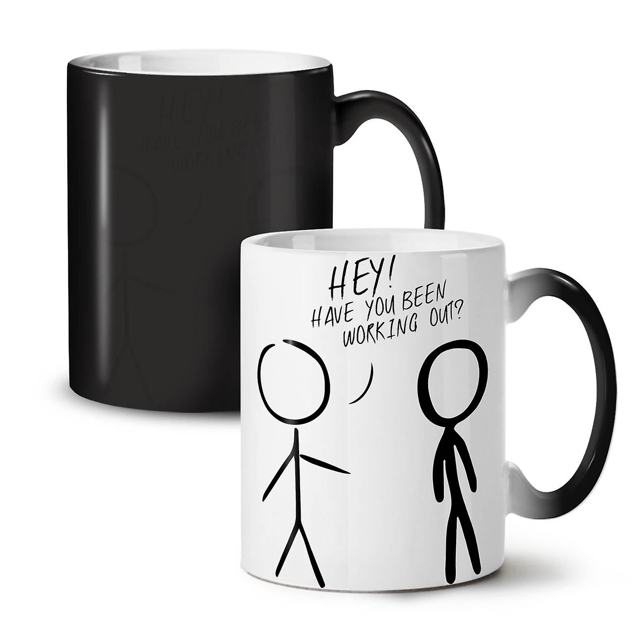 OzWellcoda Sport Coffee Head Gym Tea Ceramic Sticks Black Changing Mug Colour 11 New VpMqUGSz
