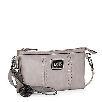 Bag woman shoulder bag adjustable and detachable hand grip. Triple compartment. Back pocket and Interior zipper. Leatherette faux leather. 93089