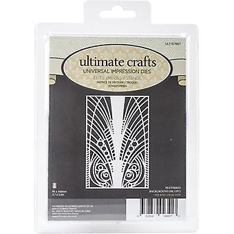Ultimate Crafts The Ritz Background Die-Feathered 3.7
