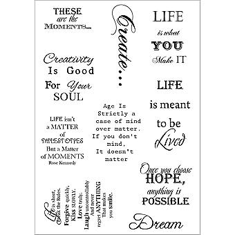 Debbi Moore Life Quotes A5 Stamp Sheet-Inspiration 2 DMNS034