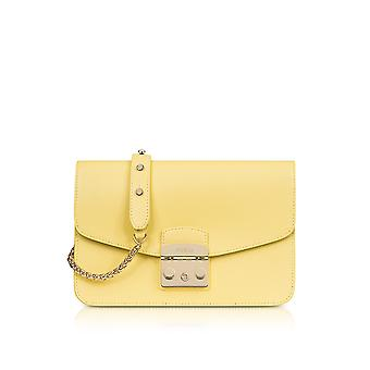 FURLA ladies 920372 yellow leather shoulder bag