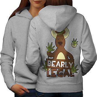 Bearly prawne Wróć GreyHoodie 420 śmieszne kobiety | Wellcoda