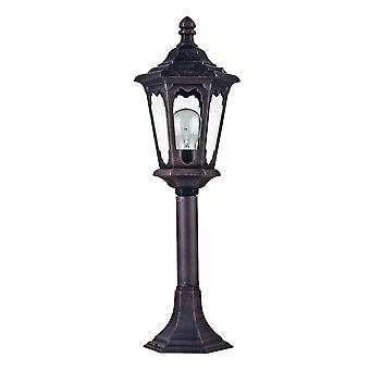 Maytoni Lighting Oxford Outdoor Collection Post Top Coach Lantern, Black