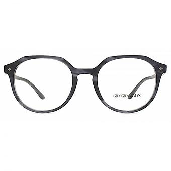 Giorgio Armani AR7132 Glasses In Matte Striped Grey