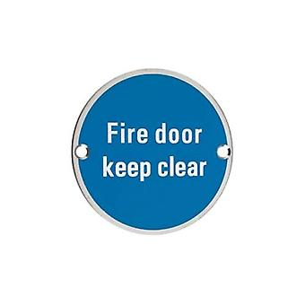 Zoo Fire Door Keep Clear - Polished Stainless - ZSS11PS