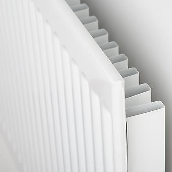 Round Top Convector Radiator - Single Panel Type 11 - White - H300 x W1000mm