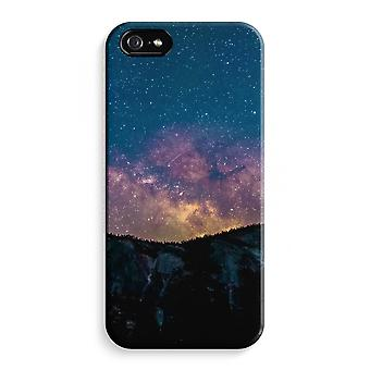 iPhone 5C Full Print Case - Travel to space