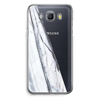 Samsung Galaxy J5 (2016) Transparent Case - Striped marble