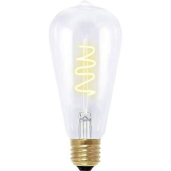 LED E27 Bulged 4 W = 12 W Grey (Ø x L) 60 mm x 135 mm EEC: B Segula dimmable, Filament 1 pc(s)