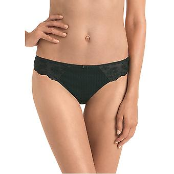 Rosa Faia 1367-001 Women's Charlize Black Lace Panty Thong