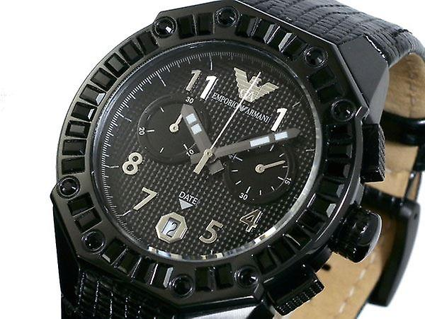 ac104e3f0e37 Emporio Armani Unisex reloj para hombre deporte reloj negro piedras AR0668