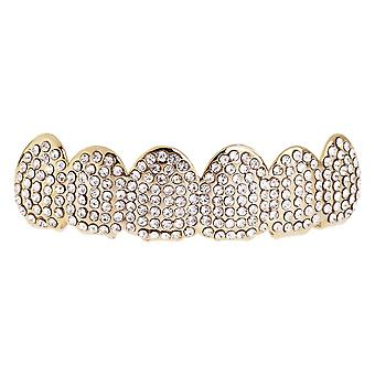 Één grootte past al bling Grillz - ICED OUT TOP - goud