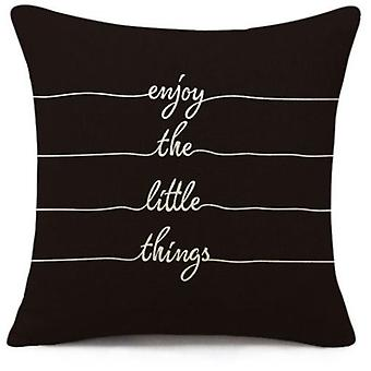 Wellindal Cushion Cover Enjoy Black And White (Decoratie , Textiel , Kussens , Kussens)