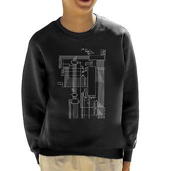 Dragon 32 Computer Schematic Kid's Sweatshirt