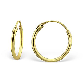 Gold Plated - 925 Sterling Silver Ear Hoops - W25281x