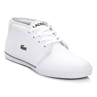 Lacoste Mens White Ampthill Trainers