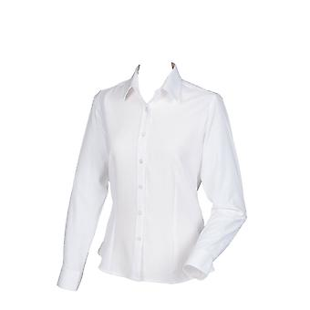 Henbury Womens  Wicking Anti-Bacterial Long Sleeve Shirt