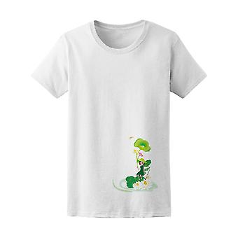 Lotus Leaf Umbrella Girl Tee Women's -Image by Shutterstock