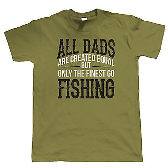 Finest Dads Go Fishing, Mens T Shirt