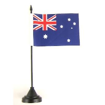 Australien-Tischfahne mit Base und Stock