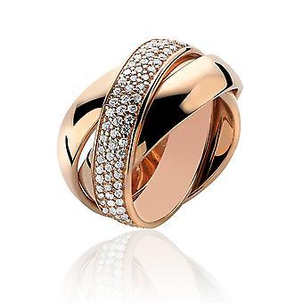 Orphelia Silver 925 Ring Trio Rose T/T  Zirconium   ZR-3890