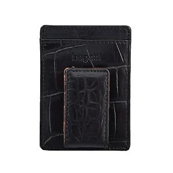 Bugatti tarjetas porta tarjeta tarjetero con negro clip 4316