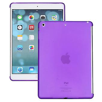 Protective cover silicone purple for Apple iPad air + foil