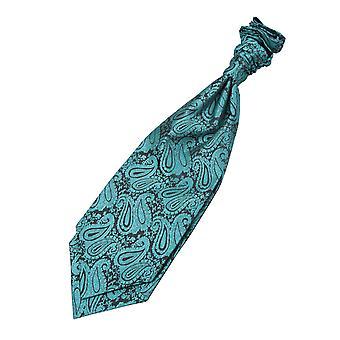 Petrol / Paisley Pre gebundene Hochzeit Krawatte