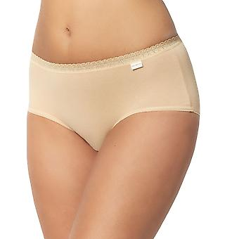 Sans Complexe 60A9073 Women's Classique Coton Skin Solid Colour Lace Knickers Panty Full Brief