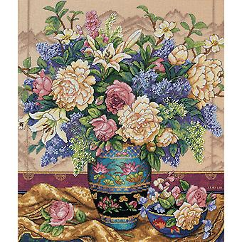 Gold Collection Oriental Splendor Counted Cross Stitch Kit-12