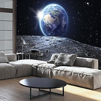 Behang - uitzicht op de blauwe planeet