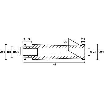 Alivio de HellermannTyton HV2206 PVC-FR BK 500 curva Terminal Ø (máx.) 5,6 mm PVC negro 1 PC