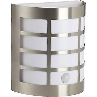 Brilliant Rune 96183/82 Outdoor wall light (+ motion detector) Energy-saving bulb, LED E27 60 W Stainless steel