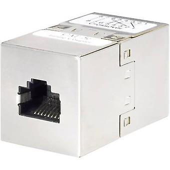 Renkforce RJ45 (cross-over) Networks Adapter CAT 5e [1x RJ45 socket - 1x RJ45 socket] 0 m Metal