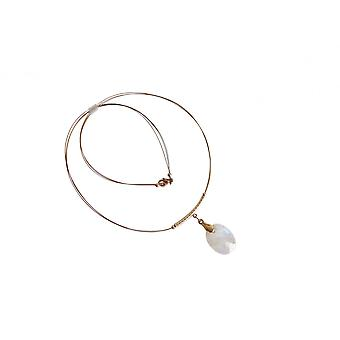 Moonstone necklace Moonstone necklace gold plated
